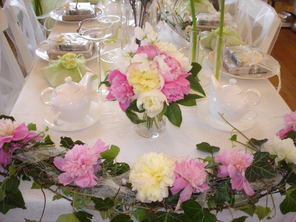 Tischgestecke von der Rosengalerie